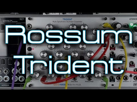 Rossum Electro-Music Trident // Triple VCO with UNIQUE Analog Tones & Modulation