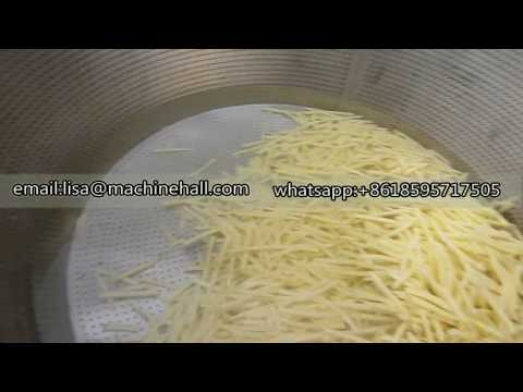 Automatic French Fries Fryer Machine Operation Process|Finger Chips Frying Equipment