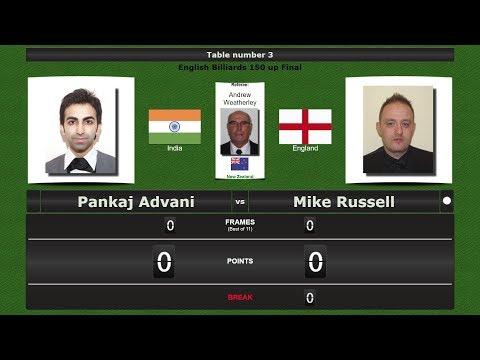 Billiards 150 up Final : Pankaj Advani vs Mike Russell