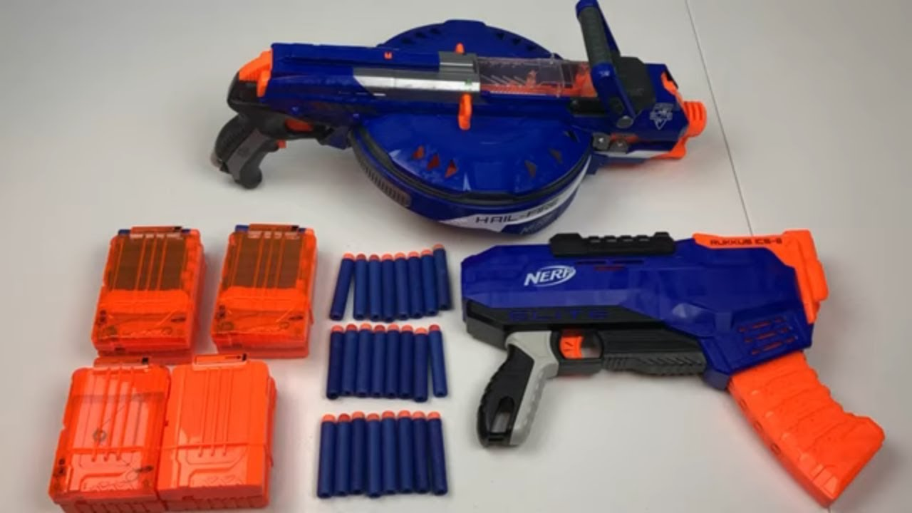Nerf N Strike Elite Hailfire Toy Gun Toy Weapons for Kids