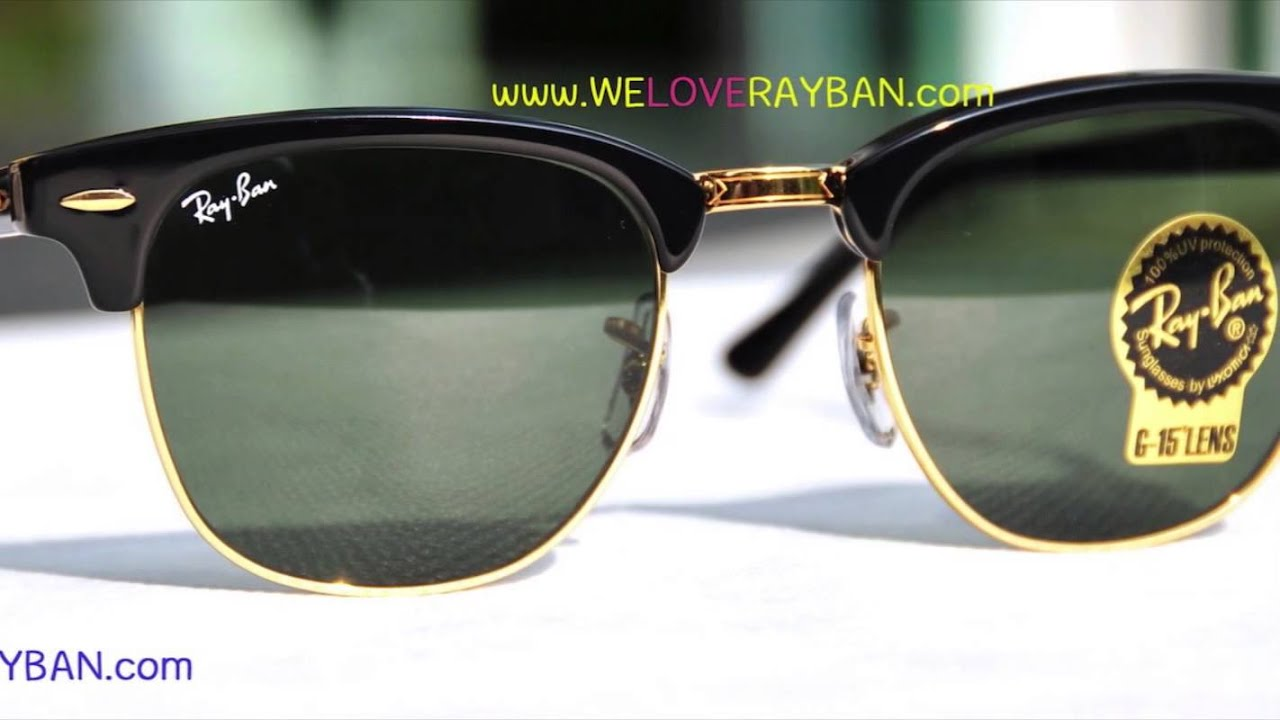 rayban rb3016 w0365  RB3016 W0365 CLUBMASTER Review By WeLoveRayBan - YouTube