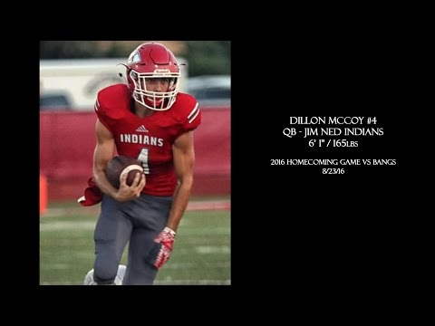 Dillon McCoy - QB Jim Ned Homecoming Game 2016 vs Bangs