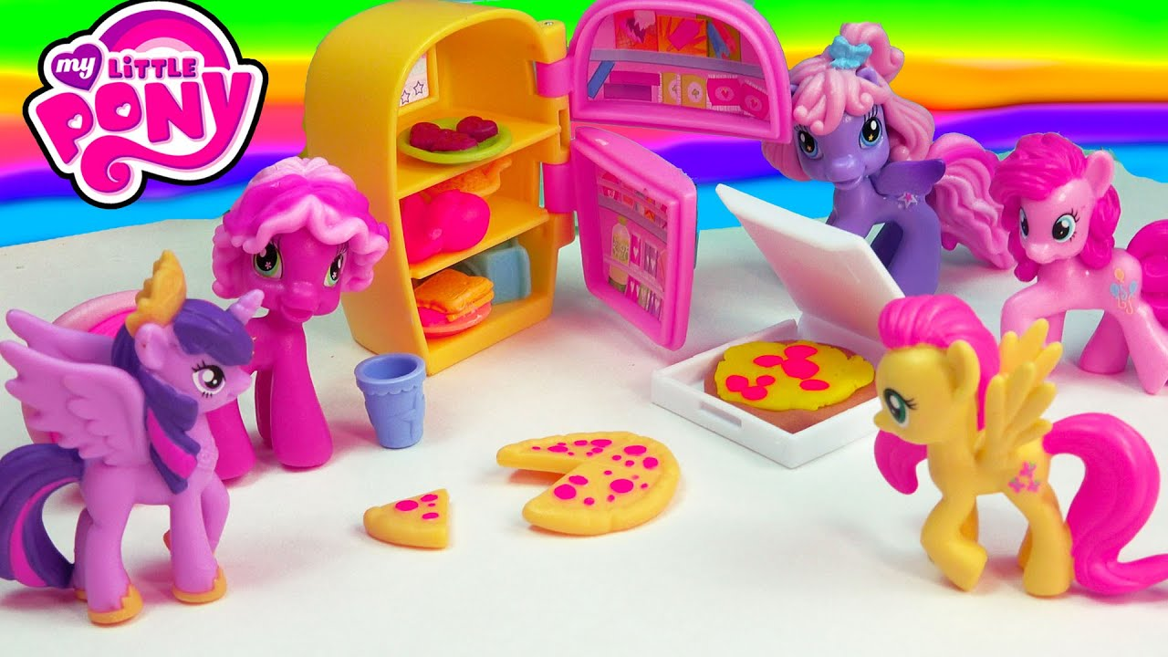 My Little Pony Toy Food : My little pony cooking party food pizza refrigerator