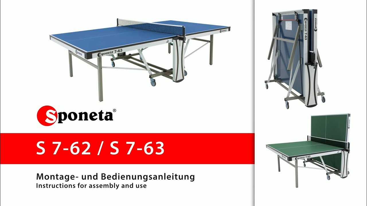 sponeta s 7 62 s 7 63 montageanleitung tischtennistisch instructions for assembly and use. Black Bedroom Furniture Sets. Home Design Ideas