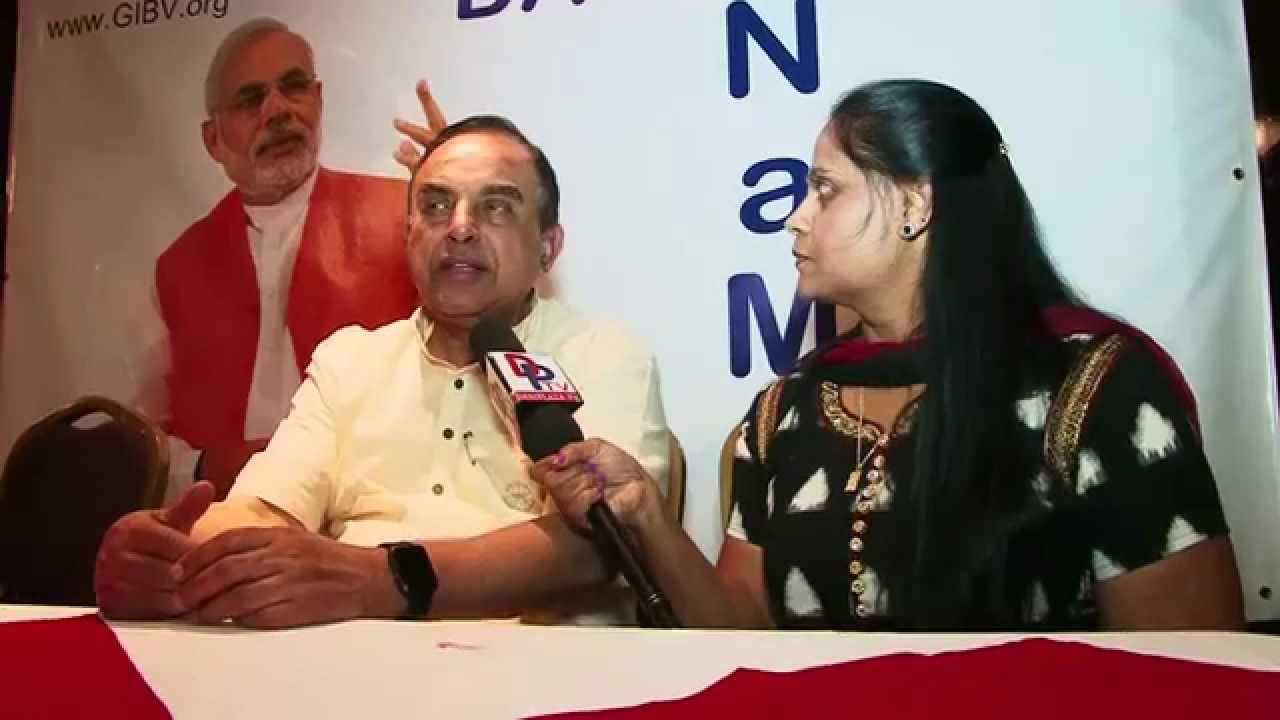 Dr Subramanian Swamy speaking to desiplaza Tv at Meet and Greet in Dallas