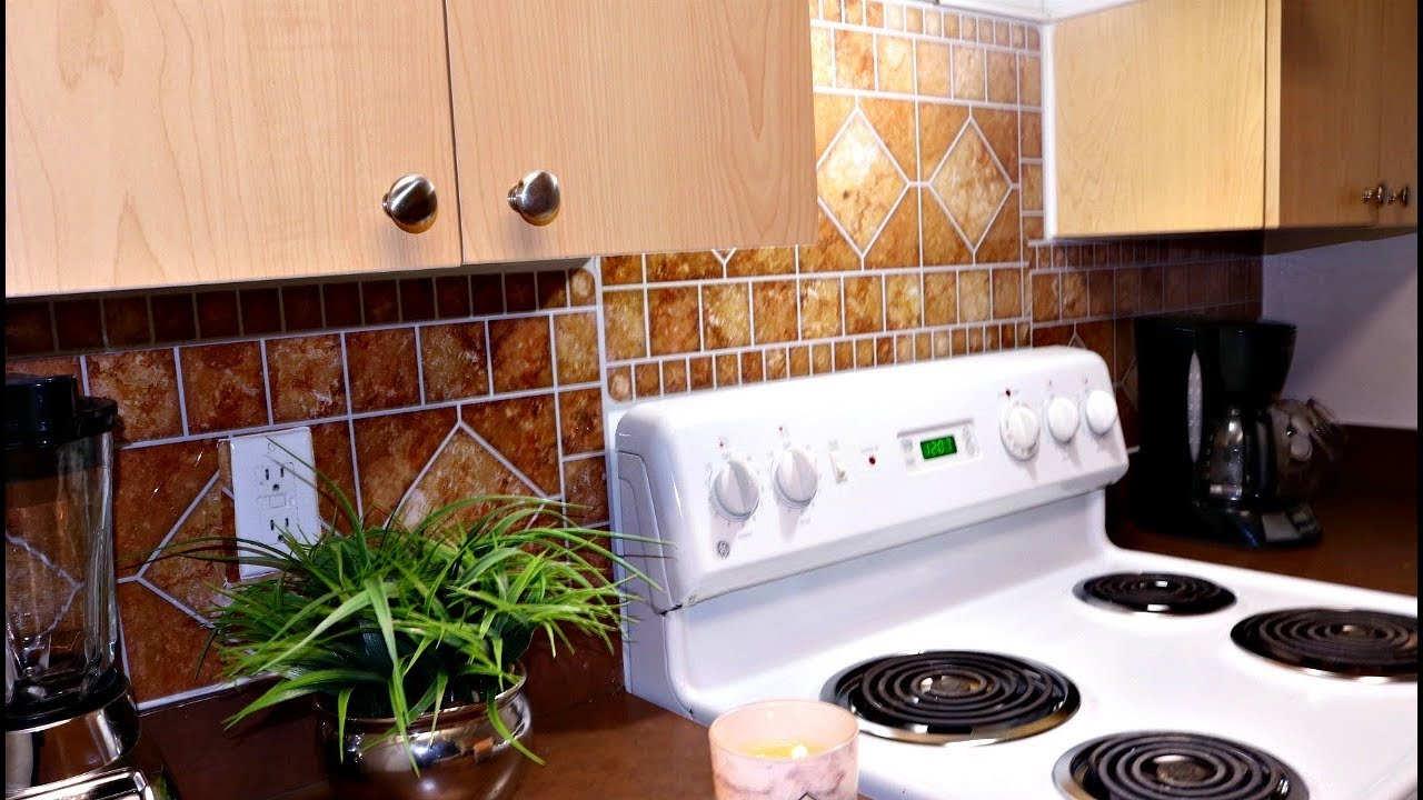 Best Kitchen Gallery: Make Your Apartment Feel Luxury Diy 3 00 Dollor Tree Back Splash of Foil Kitchen Tile on rachelxblog.com