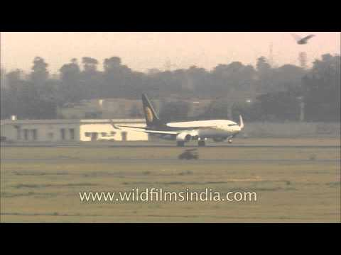 Jet Airways flight take off from T3 of IGI Airport