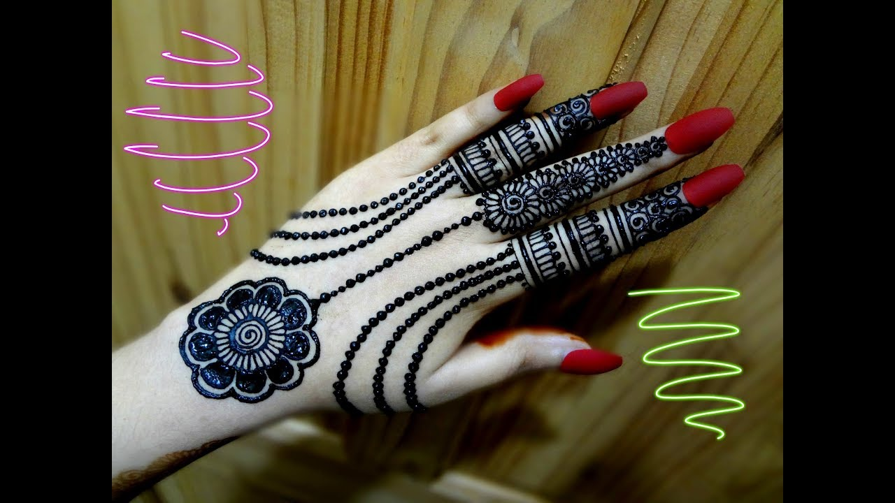 Mehndi Party List : Beautiful stylish girly henna jewellery simple easy party mehndi
