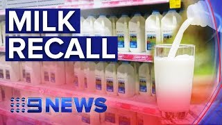Major Milk Recall Over Possible E. Coli Contamination | Nine News Australia