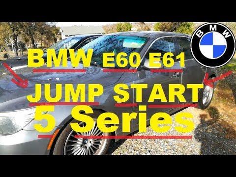 How To Jump Start Bmw 5 Series E60 E61 528i 530i 535i 550i Step