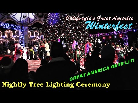 winterfest tree lighting ceremony california 39 s great america youtube