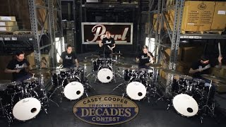 5 Drum Set GIVEAWAY Through The Decades with Casey Cooper & Pearl Drums