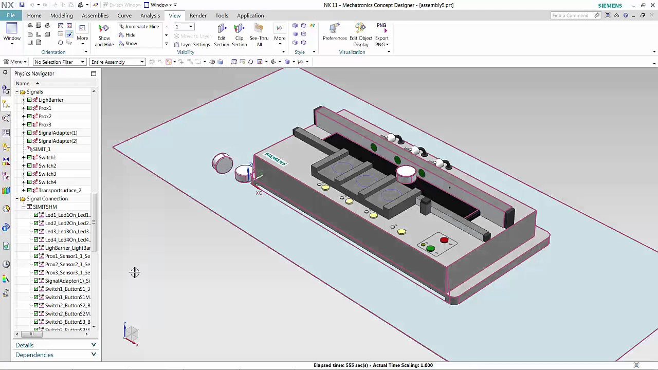 Virtual Commissioning with Siemens S7-PLCSim Advanced & NX MCD