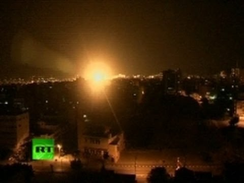 Video: Israel airstrikes pounding Gaza overnight