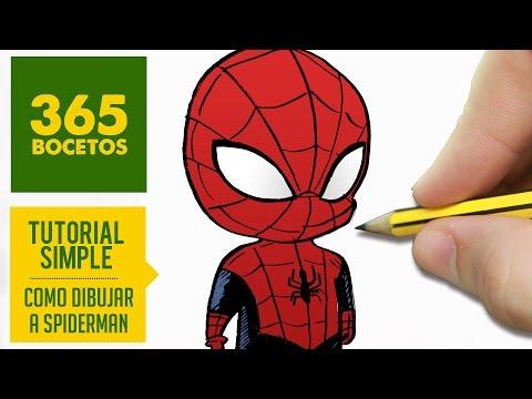 Como Dibujar A Spiderman Kawaii Paso A Paso Dibujar Kawaii Facil