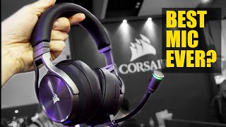 Testing out Corsair's Virtuoso Broadcast MIC Vs. Lav (AT PAX!)
