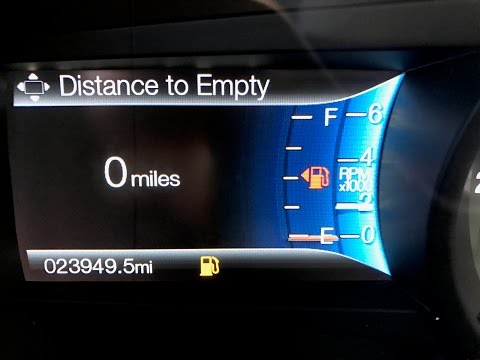 "Thumbnail: How far can you ACTUALLY drive on ""0 miles to empty"" ?"