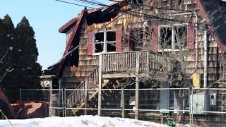 Schartner Farms after fire - Exeter, RI