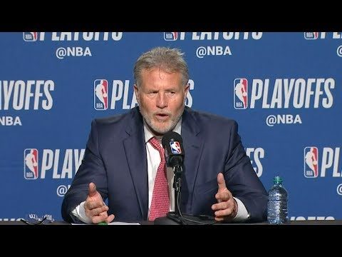 Brett Brown Postgame Interview - Game 1 | 76ers vs Raptors | 2019 NBA Playoffs