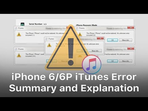 iPhone 6/6 Plus iTunes Error Codes Summarization