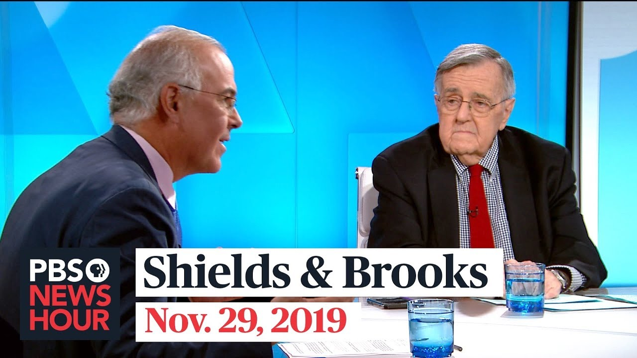 Shields and Brooks on impeachment public opinion, shifting 2020 Democratic race