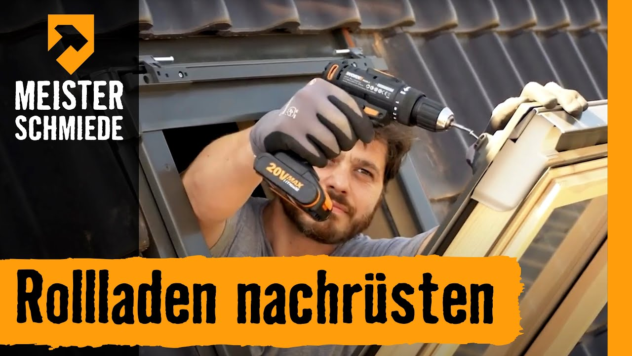 rollladen nachr sten am dachfenster hornbach meisterschmiede youtube. Black Bedroom Furniture Sets. Home Design Ideas