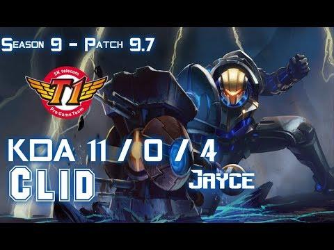 SKT T1 Clid JAYCE vs KINDRED Jungle - Patch 9.7 KR Ranked