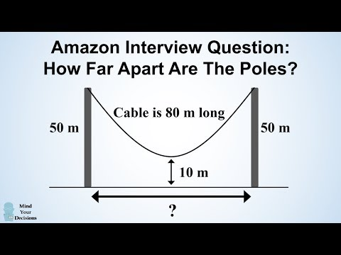 Can You Solve Amazon's Hanging Cable Interview Question?