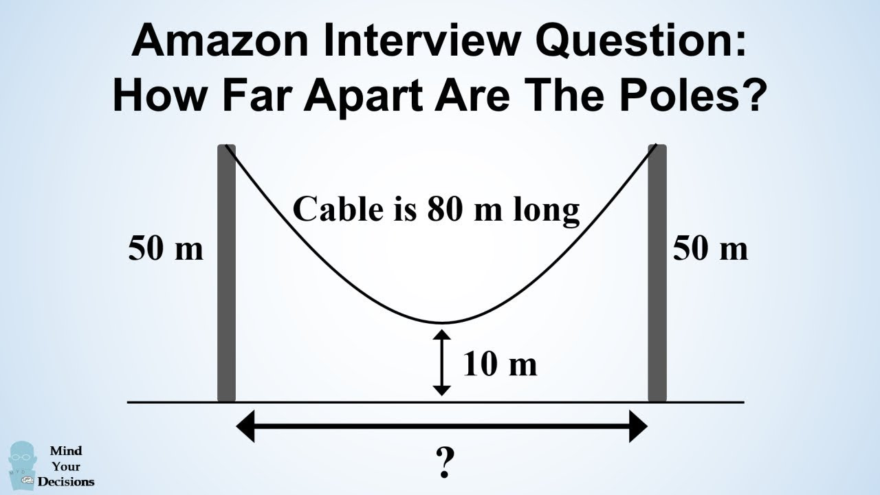 Can You Solve Amazon's Hanging Cable Interview Question? – Mind Your