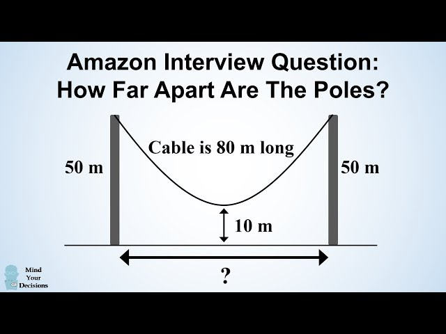 Can You Solve Amazons Hanging Cable Interview Question?