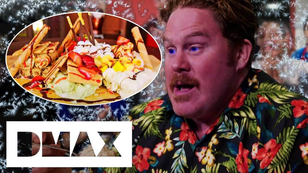 Casey V The 4-Pound Thai Rolled Ice Cream & Crêpes Challenge   Man V Food