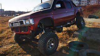 Установка Мостов Safari Y60 на Nissan Datsun D21 Свап Мкпп Datsun d21 Qd32 vs Safari...
