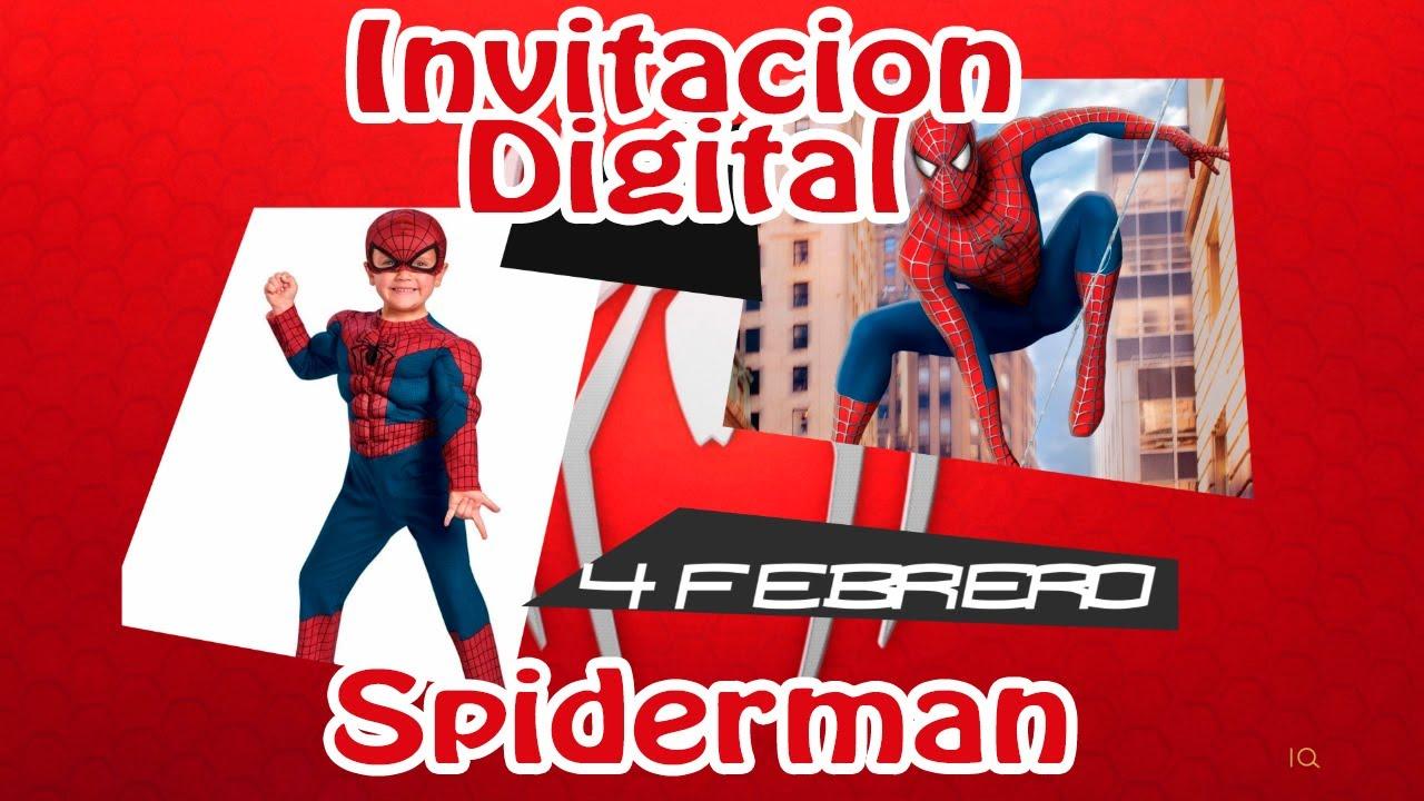 Invitacion Virtual Spiderman I