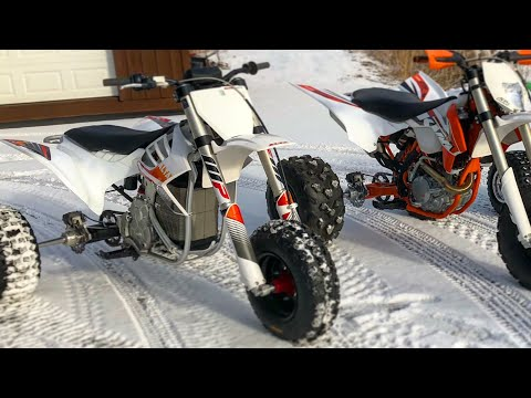 Electric ALTA Vs KTM Drag Race? Is This The Future?! Electric Three Wheeler Riding Clips  BVC Trikes