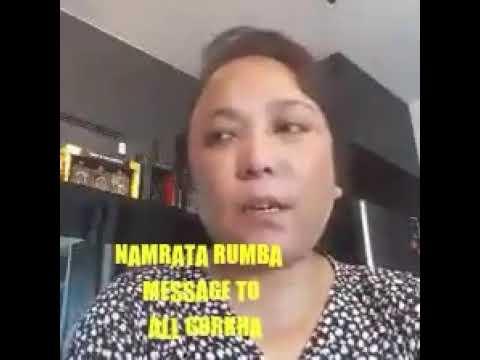NAMRATA RUMBA ADDRESSING TO ALL GORKHAS