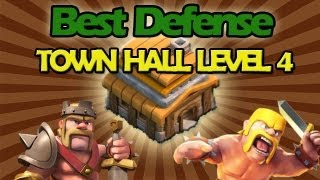 BEST Town Hall Level 4 Defense Strategy for Clash of Clans+ Low Level Raiding Strategy!
