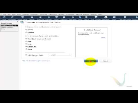 Creation for Credit Card Account in Chart of Account - QuickBooks Tutorial