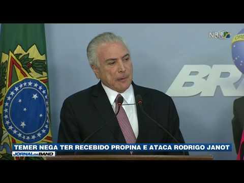 Temer nega ter recebido propina e ataca Rodrigo Janot