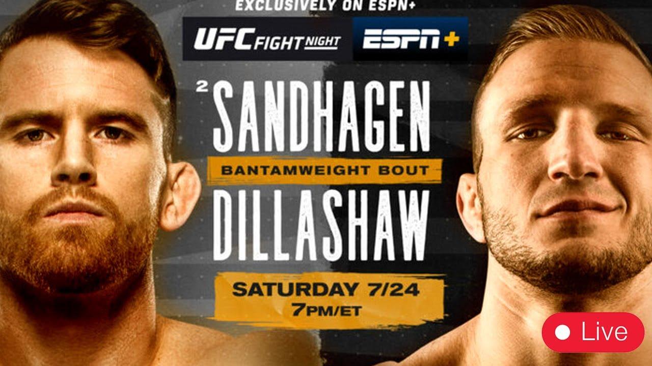 Ти Джей Диллашоу - Кори Сандхаген  UFC on ESPN 27- ГДЕ СМОТРЕТЬ