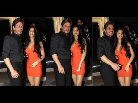 Thumbnail: Shahrukh Khan with daughter Suhana Khan at Gauri Khan Party Last Night