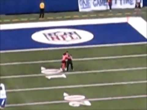 NFL mascot takes out streaker