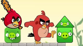 Angry Birds Pigs Out - RED BIRDS KICK OUT THE SQUARE GREEN PIG!