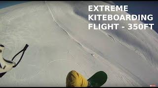 HIGH Kiteloop -kiteGLIDING -Sinaia  -the sound of my kite. SNOWKITE- Vlad Postelnicu.