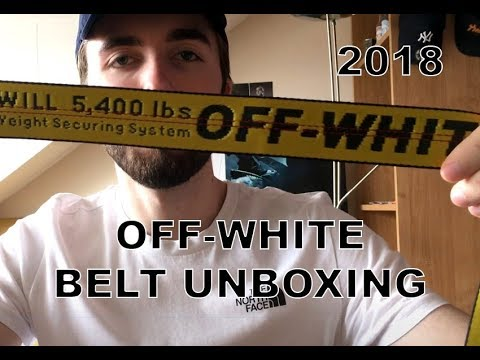 69ef0c6cd7bb OFF-WHITE INDUSTRIAL BELT UNBOXING - 2018 - YouTube