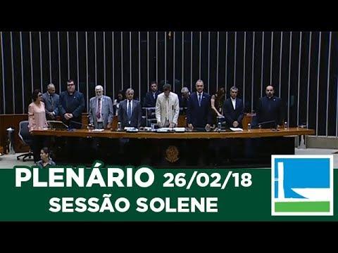 PLENÁRIO - Homenagem Campanha da Fraternidade - 26/02/2018 - 09:27