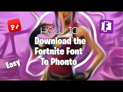 How To Download The Fortnite Font | For Phonto | Easy And Short!