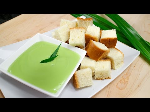 "Pandan Coconut Custard ""Fondue"" Recipe สังขยาใบเตย - Hot Thai Kitchen!"