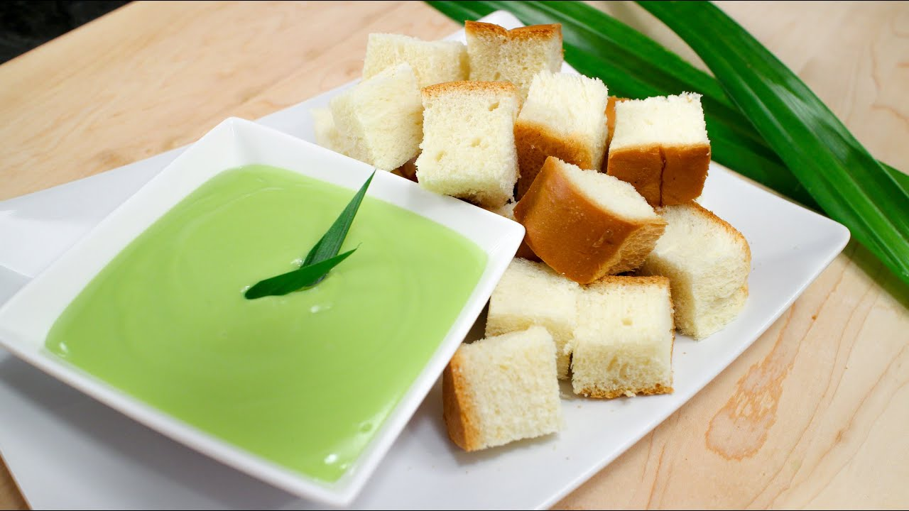"Pandan Coconut Custard ""Fondue"" Recipe สังขยาใบเตย Hot Thai"