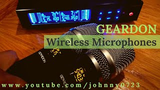 Wireless Microphone System by Geardon, dual microphones, simple setup, portable!