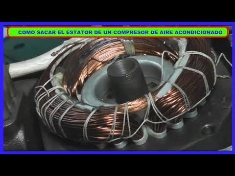 Como Sacar El Estátor De Un Compresor De Aire Acondicionado Alternativo (A Pistón 8333 B.T.U).
